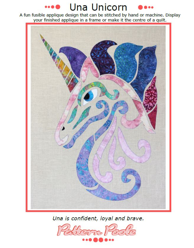 Una Unicorn quilt pattern by Monica & Alaura Poole