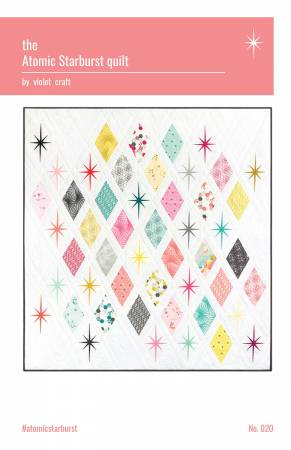 Atomic Starburst quilt pattern by Violet Craft