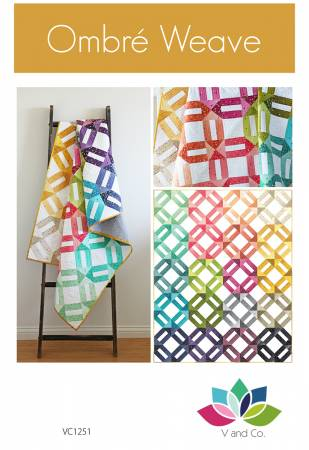 Ombre Weave quilt pattern by Tiffany Hayes