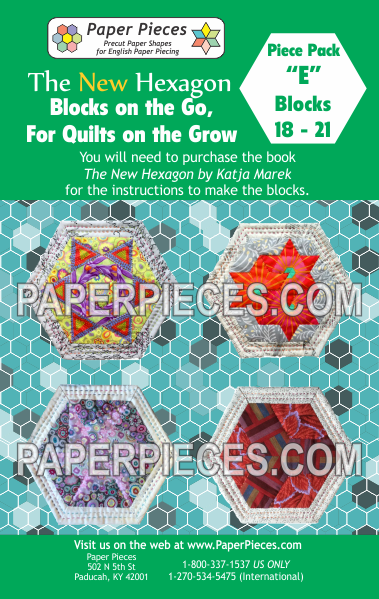 "Blocks on the Go, For Quilts on the Grow Pack ""E"" - The Quilter's Bazaar"