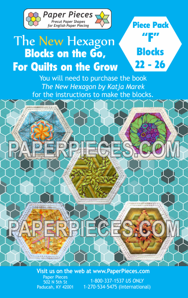 "Blocks on the Go, For Quilts on the Grow Pack ""F"" - The Quilter's Bazaar"