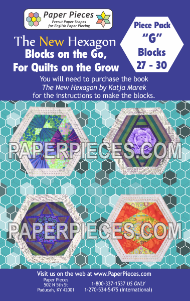 "Blocks on the Go, For Quilts on the Grow Pack ""G"" - The Quilter's Bazaar"