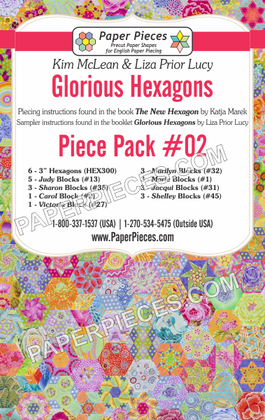 Glorious Hexagons Piece Pack #02 - The Quilter's Bazaar