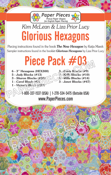 Glorious Hexagons Piece Pack #03 - The Quilter's Bazaar