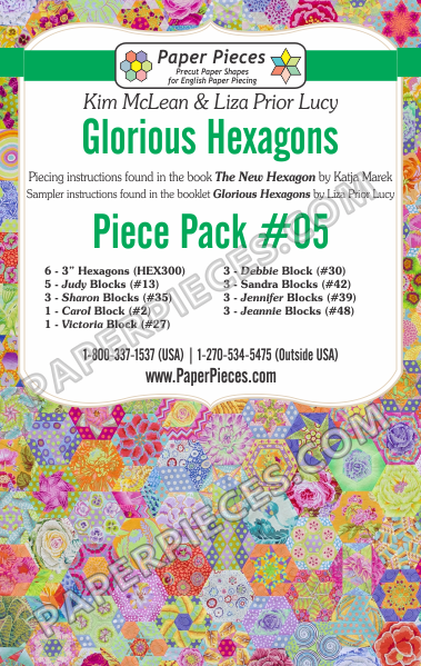 Glorious Hexagons Piece Pack #05 - The Quilter's Bazaar
