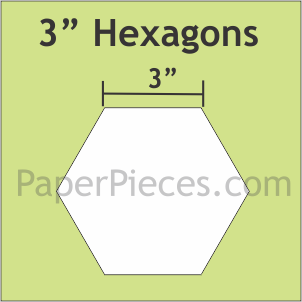 "3"" Hexagons"