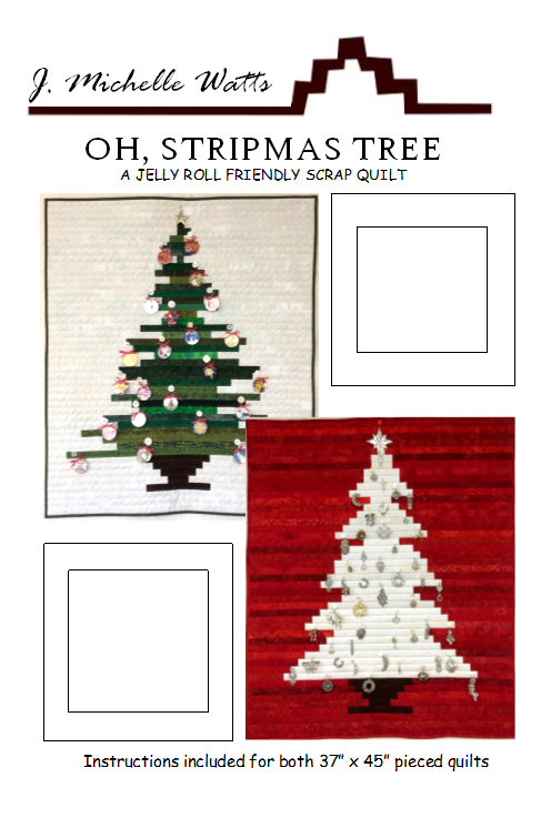 Oh, Stripmas Tree quilt pattern by J Michelle Watts