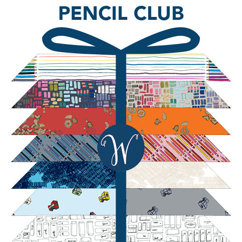 Pencil Club by Heather Givens - fat quarter bundle