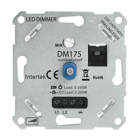 Led Dimmer 3-200W Universeel + Afdekraam