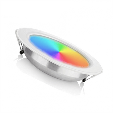 Led Downlight - 12W - Inbouwspot - Zaagmaat Ø150x40mm - RGB + CCT