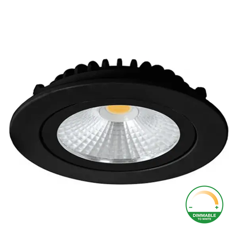 Led Downlight - Slim-Fit - Varda - Inbouwspot (23mm) - Dimbaar - 5W - Zwart - Dim2Warm