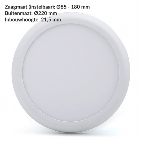Led Downlight - Inbouw/opbouw - 3 Color (3000K/4000K/5000K) - 12W of 18W