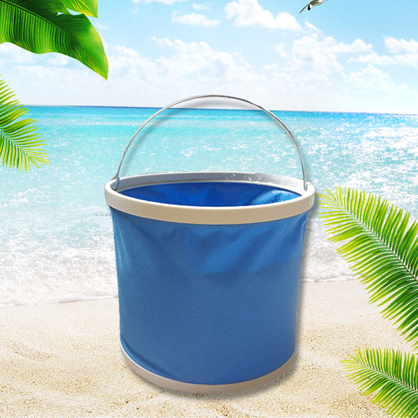 multifunctional canvas folding bucket for outdoor travel