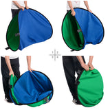 5'x6.5' Collapsible Chromakey Blue Green Backdrop