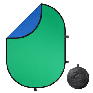 5'x6.5' Collapsible Chromakey Blue Green Backdrop (Preorder)