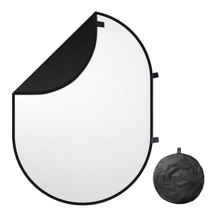 5'x6.5' Collapsible Chromakey Black White Backdrop
