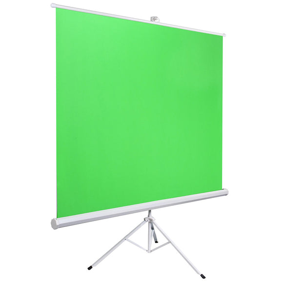 Retract Green Screen Chromakey Backdrop with Stand 5'10