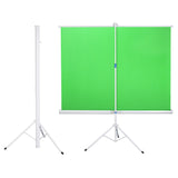 Retract Green Screen Chromakey Backdrop with Stand 5'10""