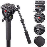 Aluminum DSLR Video Monopod Flip Locks w/ 3 Legs