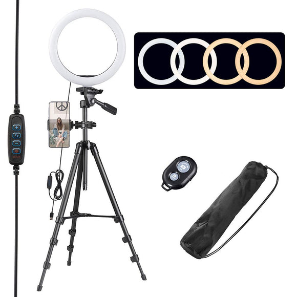 10in Dimmable Photography LED Ring Light w/ Stand Kit