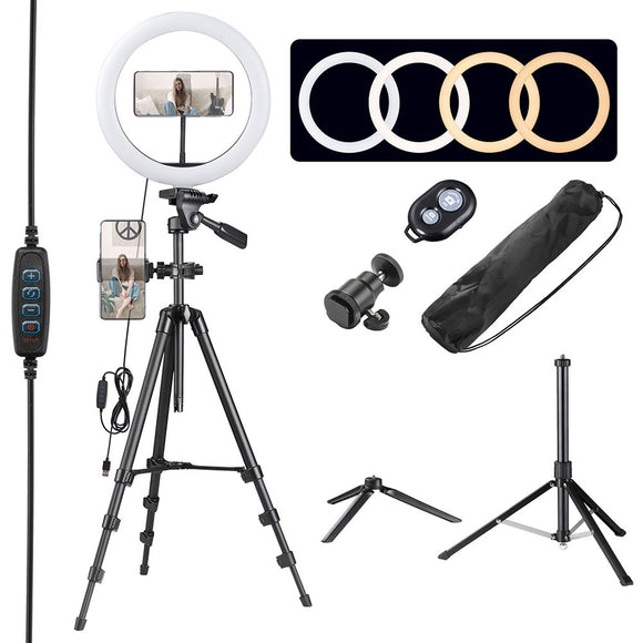 13in 40w Dimmable LED Ring Light Kit w/ Stand, Camera Phone Holder (Preorder)
