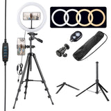 12in Dimmable LED Ring Light Kit w/ Stand, Camera Phone Holder