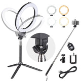 8in 10w Dimmable LED Ring Light Photography Video