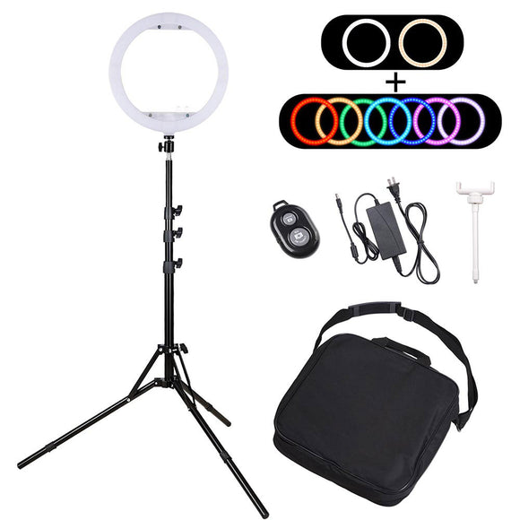 13in Multi-Color RGB Ring Light Stand Camera Phone Holder Remote