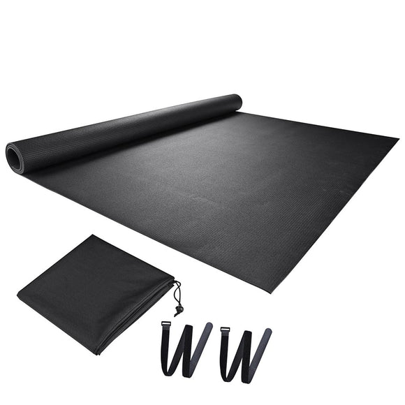 Large Yoga Mat Home Gym Flooring Exercise Mat Black