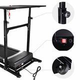 1.5 HP Electric Treadmill with Desk Cardio Machine with Remote