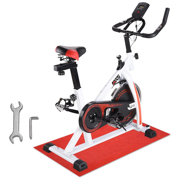AW Exercise Bike Trainning Cycle Indoor Fitness White