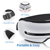 Rechargeable Eye Massager with Heat Bluetooth 5 Modes