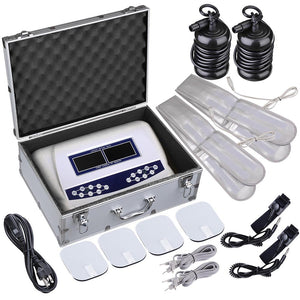 Dual User Ion Detox Colored LCD Foot Spa Bath Machine Arrays Belts