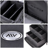 AW Black Soft Makeup Train Case with Drawer + Gift