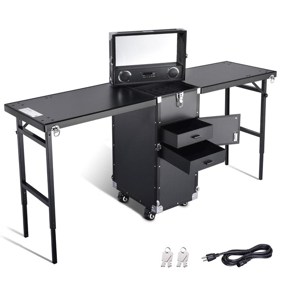Byootique Double Nail Tech Table Makeup Hair Station