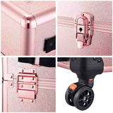 AW 4in1 Pink Rolling Makeup Case on 4-wheel