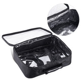 Makeup Bag Set 3-Pack Cosmetic Bags Clear/Black