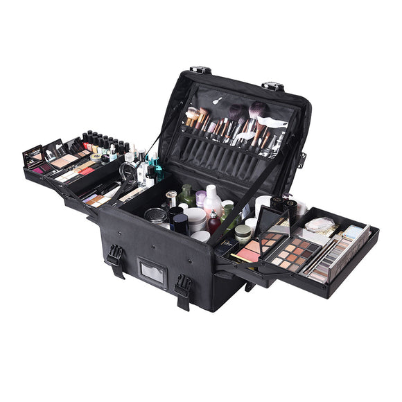 Makeup Train Case Cosmetic Bag 1680D Nylon
