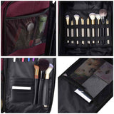 Byootique Nylon Makeup Case w/ Wheels & 6 Cosmetic Bags