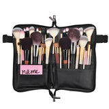 Makeup Brush Bag with Belt Zip Around PVC 24 Slots