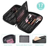 Makeup Brush Holder Travel Zip Around 17 Slots