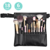 Makeup Brush Belt Holder Organizer PU 18 Slots