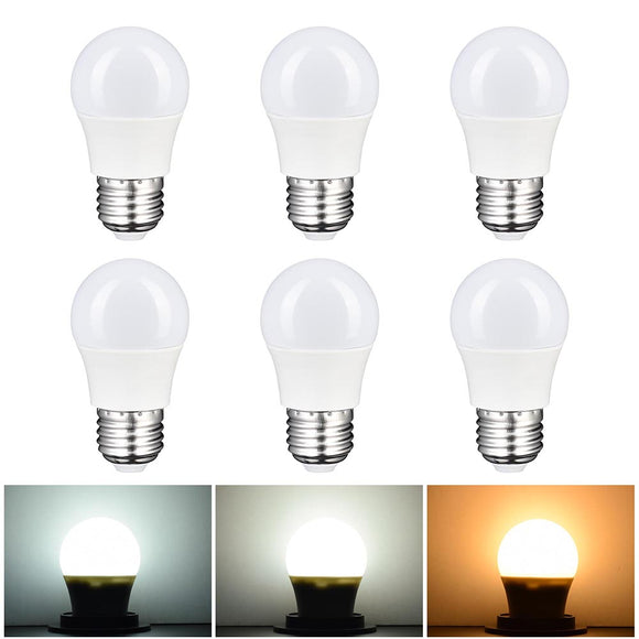 Vanity Mirror Light Bulbs 3W E27 Set of 6, 3000K-6000K