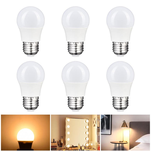 Set of 6 Vanity Mirror Light Bulbs 3W E27