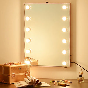 "24""x34"" Hollywood Mirror w/ Lights Tabletop & Wall Mount"