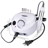 White Nail Art Drill Machine Kit (Bits included)