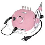 Pink Nail Art Drill Machine Kit (Bits included)
