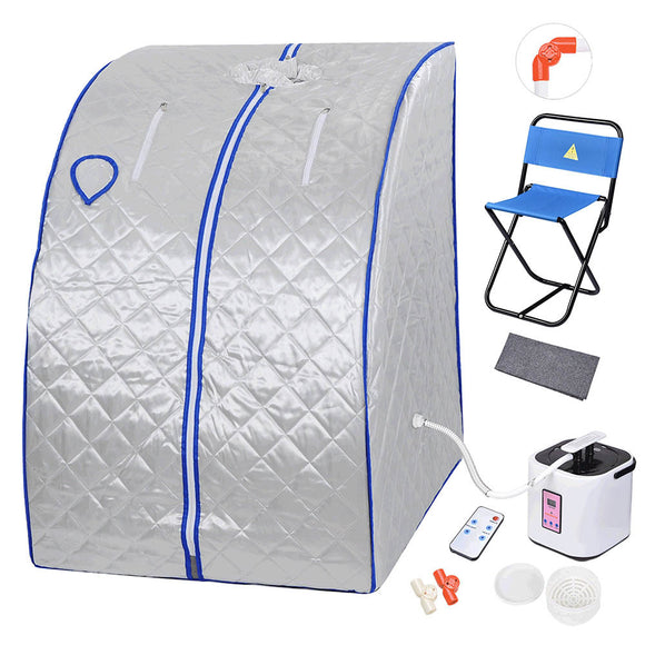 Silver Portable Sauna Tent Slimming Room Lose Weight Spa