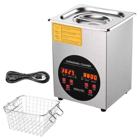 2L Stainless Steel Ultrasonic Cleaning Machine