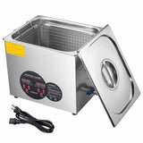 "10L Stainless Steel Ultrasonic Cleaner Tank 11"" L x 9"" W x 6"" H"